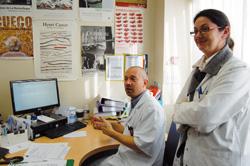 Laurent Flet, Muriel Menanteau, pharmaciens, pilotes du projet