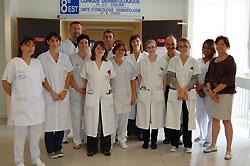 équipe du service de dermatologie clinique HD - 2009