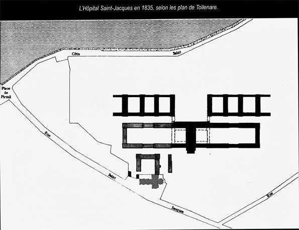 l'hôpital Saint-jacques en 1835
