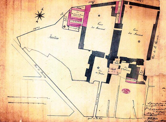 plan de l'hospice du Sanitat (1572)
