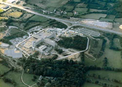 l'hôpital Nord Laennec en 1983, quelques mois avant son ouverture