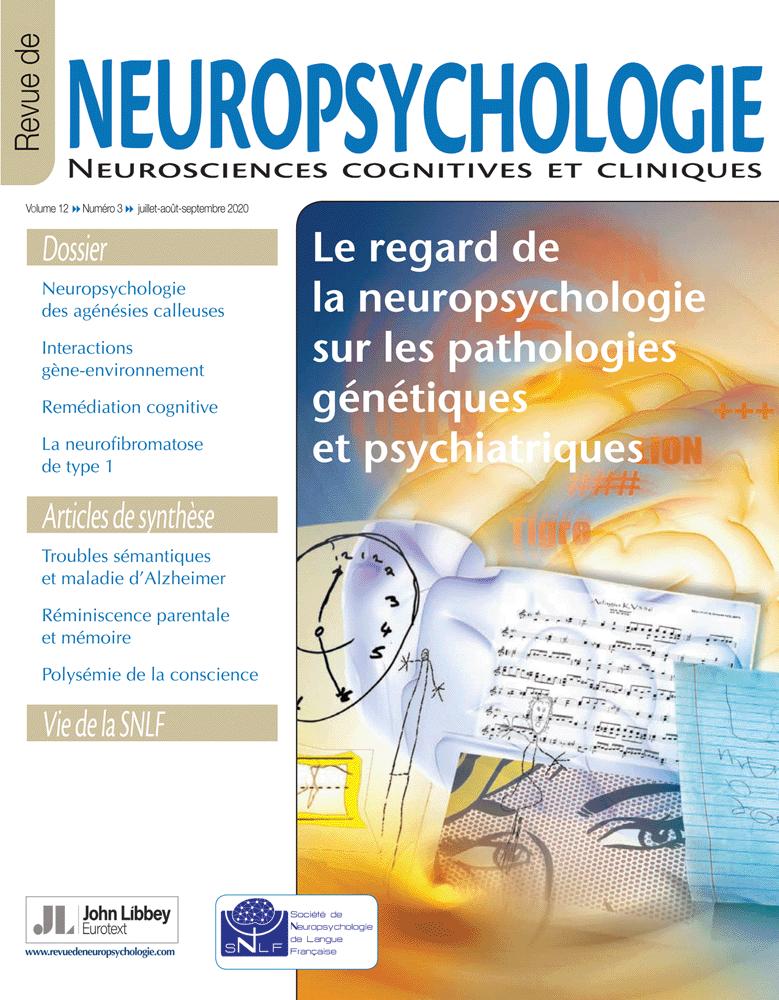 Neuropsychologie Revue 2020