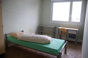 une des chambres (inoccupée) de l'appartement de la Bottière