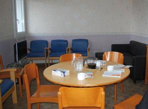 salon de l'appartement collectif de la Bottière