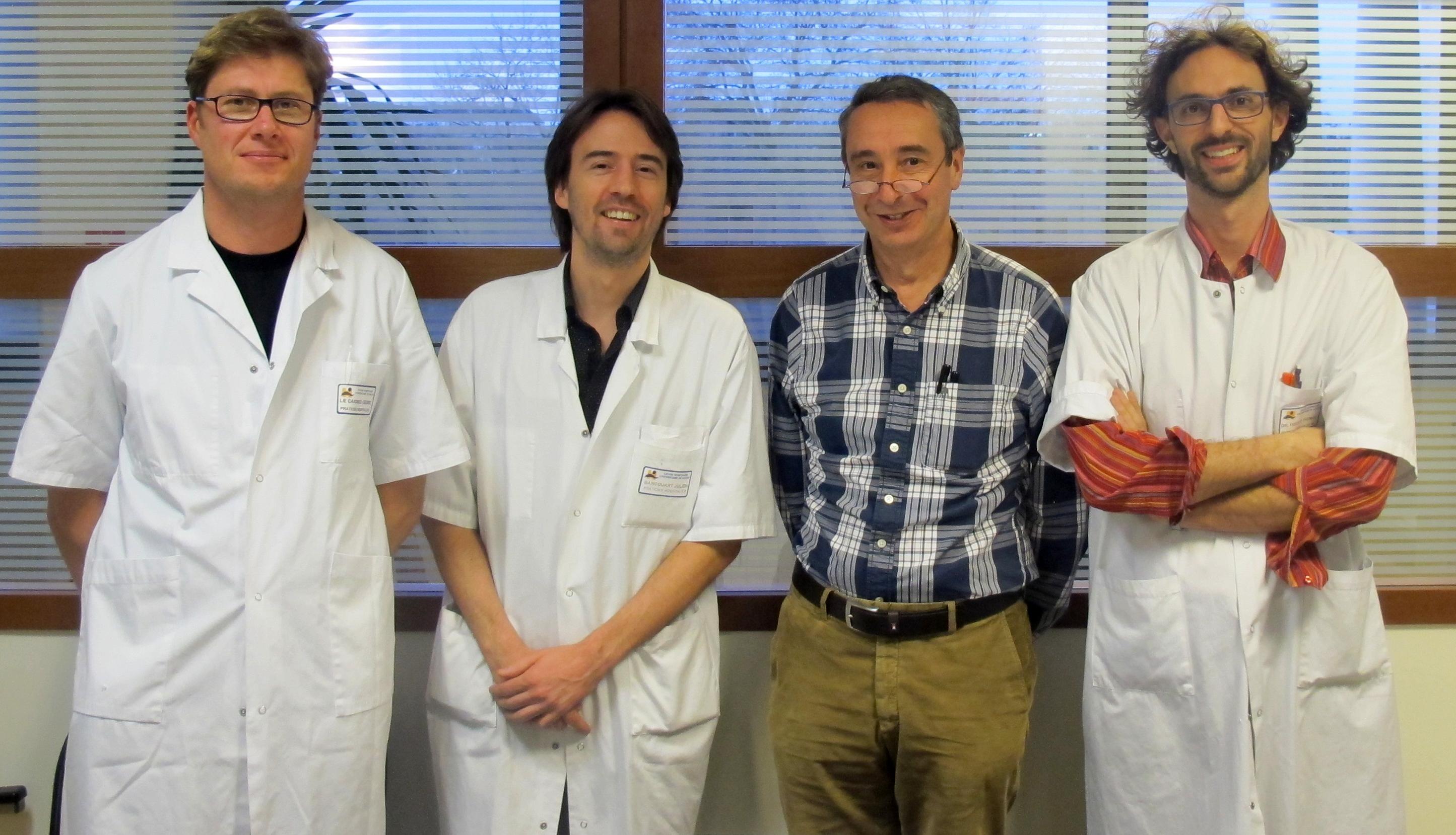 Cédric Le Caignec, Julien Bancquart, Paul Barrière et Thomas Fréour
