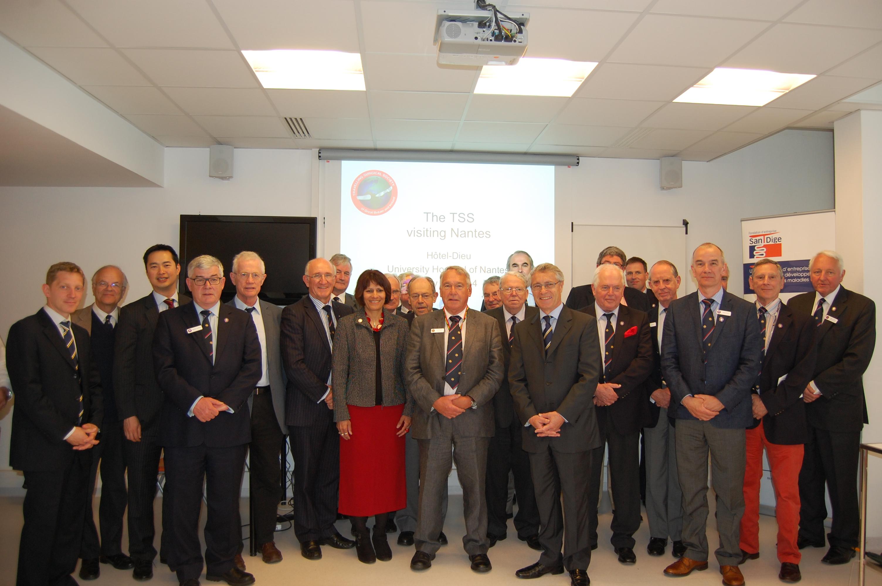 délégation de la Travelling Surgical Society en visite au CHU