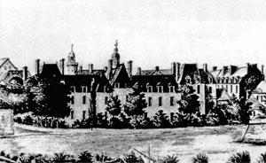 l'hôtel-Dieu sur l'île Gloriette au XVIIe siècle
